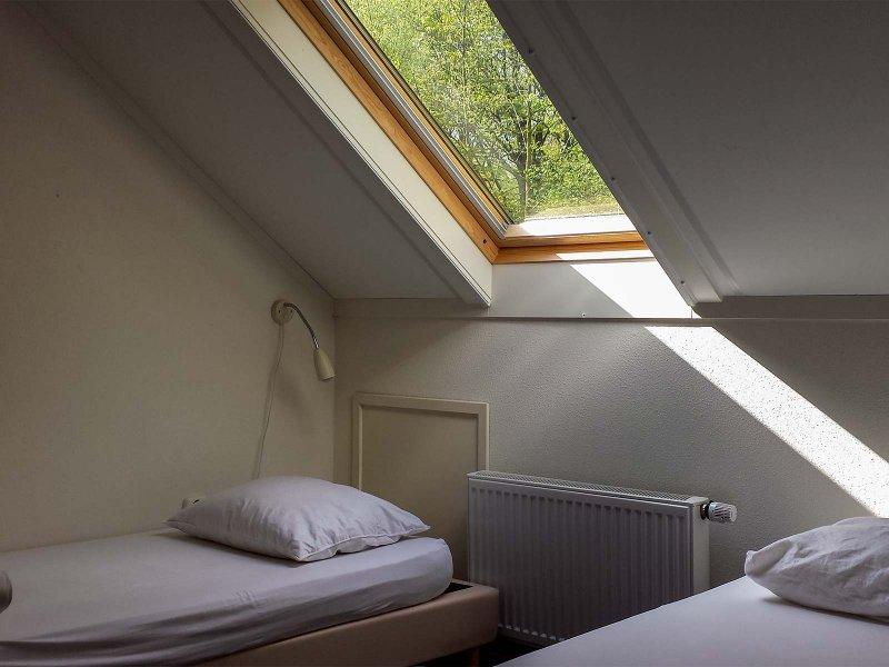 Slaapkamer in het Voorhuis op Meeuwenveen Accommodaties