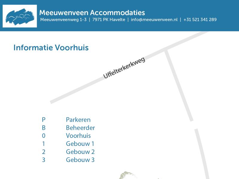 Voorkant PDF informatie het Voorhuis Meeuwenveen Accommodaties