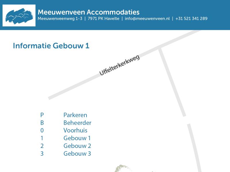Voorkant PDF informatie Gebouw 1 Meeuwenveen Accommodaties