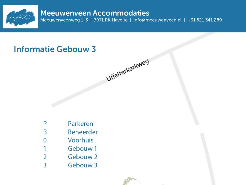 Voorkant PDF informatie Gebouw 3 Meeuwenveen Accommodaties