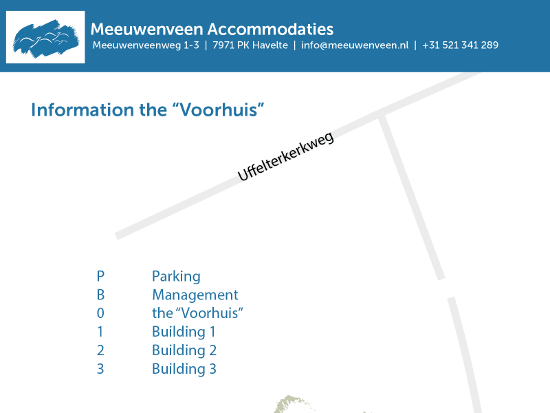 Meeuwenveen Accommodations Floor Map Building 0