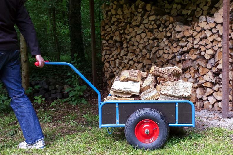 Een karretje brandhout is gelijk aan 3 manden