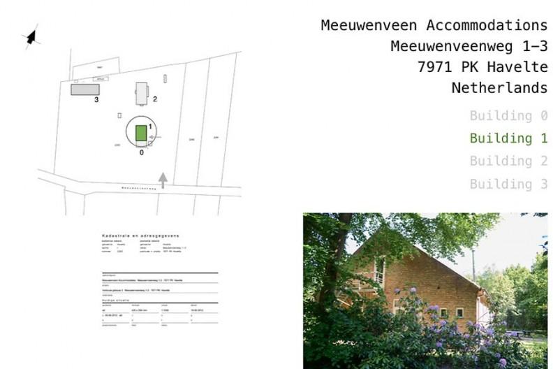 Meeuwenveen Accommodations Floor Map Building A