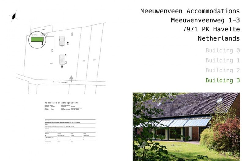Meeuwenveen Accommodations Floor Map Building 3